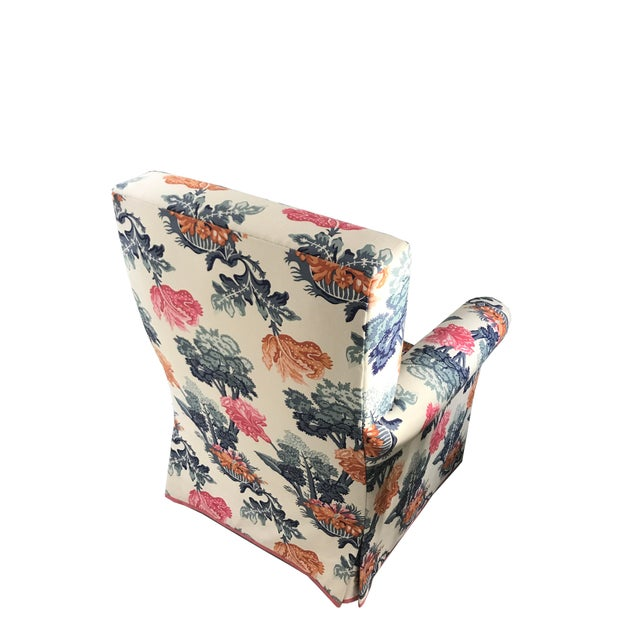 Jon Stefanidis Floral Fabric Skirted Armchair - Image 4 of 6