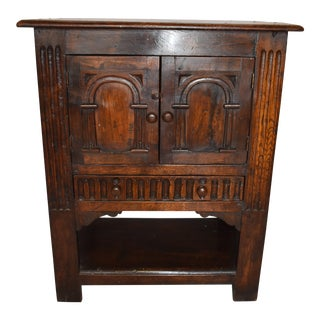 Jacobean Style Wooden Side Cabinet For Sale