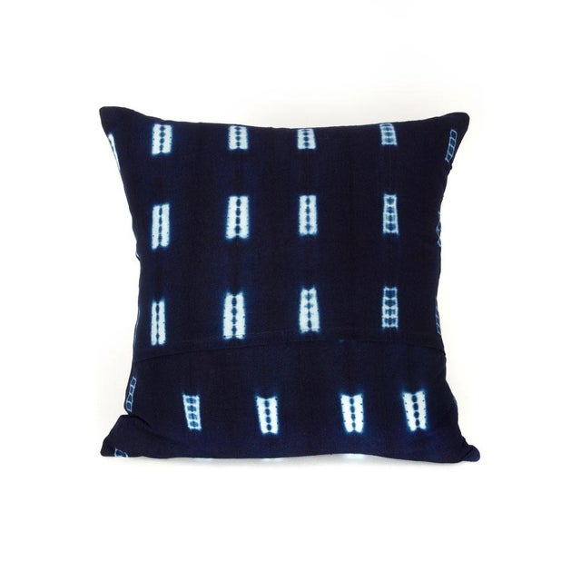 Indigo Blue Mud Cloth Pillow Covers - a Pair - Image 3 of 3