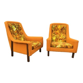 Mid Century Modern Adrian Pearsall Style Selig of Monroe Lounge Chairs- A Pair For Sale
