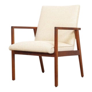 Mid Century Jens Risom Upholstered Lounge Chair For Sale