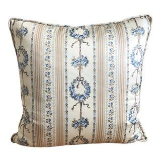 Cottage Cotton Sateen Decorative Pillow For Sale