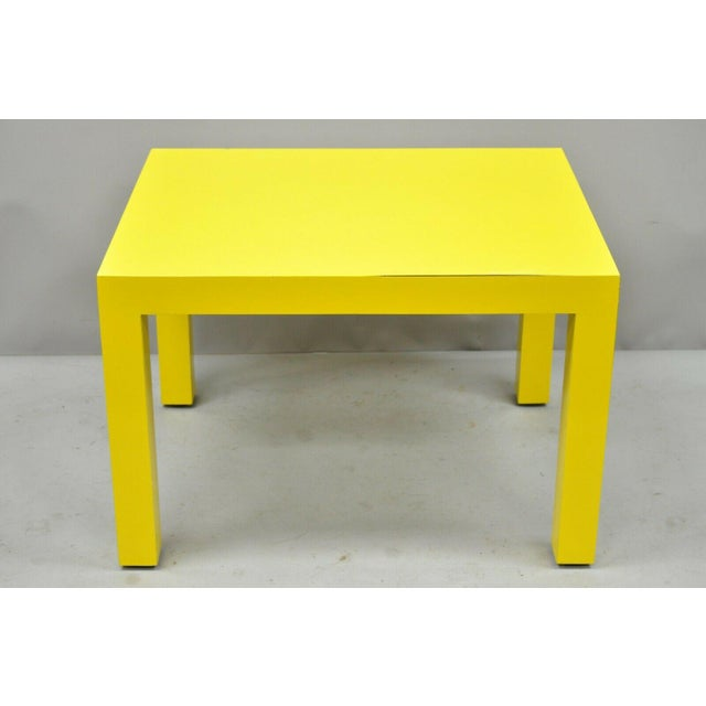 1970s 1970s Contemporary Thayer Coggin Milo Baughman Yellow Parsons End Table For Sale - Image 5 of 11
