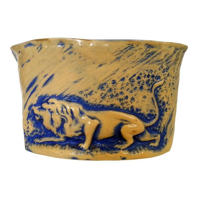 Mid-Century Stalking Lion Vase For Sale