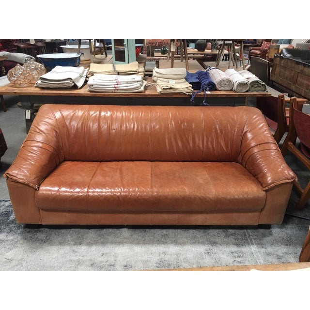 Mid Century Leather sofa from Europe. In great condition!