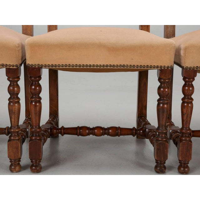 Antique French Dining Side Chairs - Set of 6 For Sale - Image 4 of 12