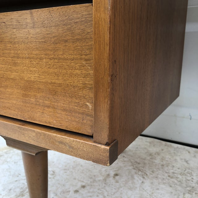 Mid-Century Modern Curved Front Writing Desk For Sale - Image 10 of 13