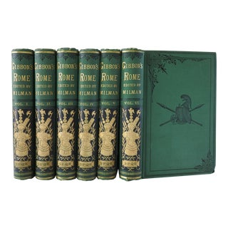 1879 Decline and Fall of the Roman Empire - Set of 6 For Sale