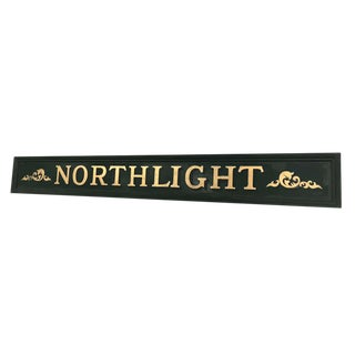 Vintage Northlight Decorative Sign For Sale