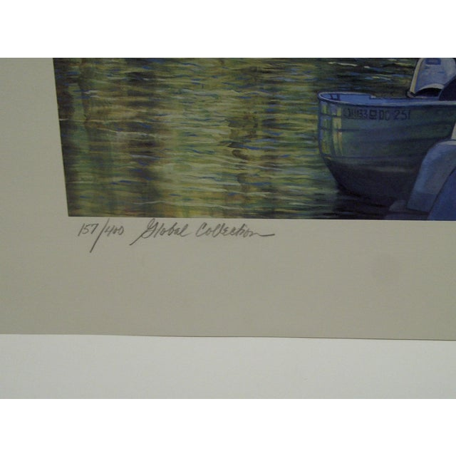 "Mary Anne Reilly 1985 ""Potamac Springtime"" Signed Print For Sale - Image 4 of 7"