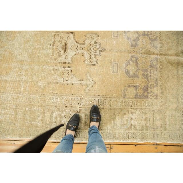 "Vintage Distressed Oushak Carpet - 5'6"" X 9'1"" For Sale - Image 12 of 13"