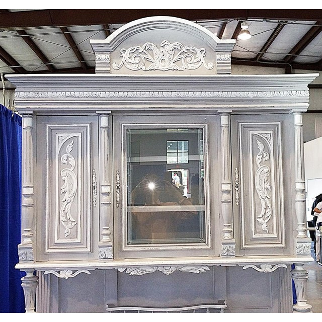 Antique French Painted Hutch For Sale - Image 4 of 11