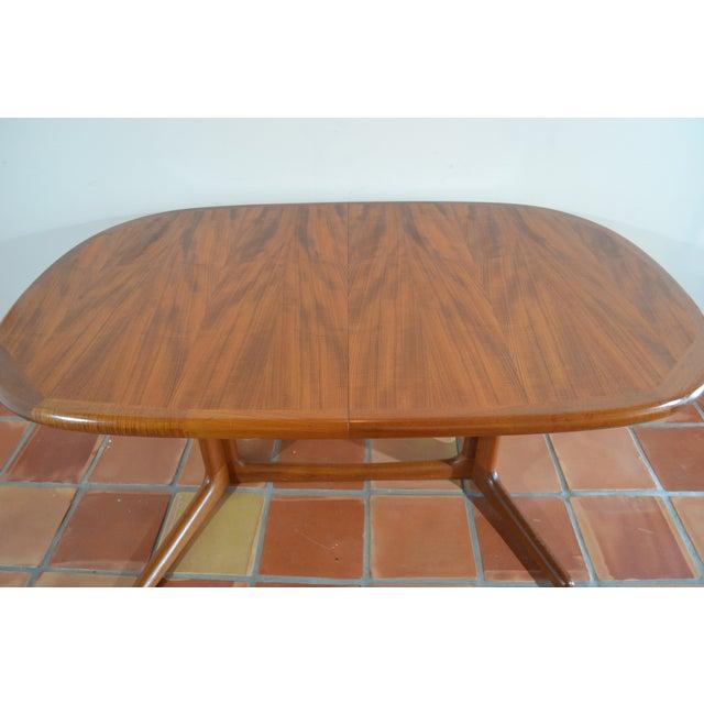 E. Valentinsen Danish Teak Expandable Dining Table For Sale - Image 4 of 10