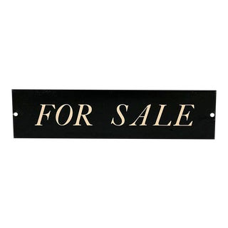 Old Store Stock Metal for Sale Sign For Sale
