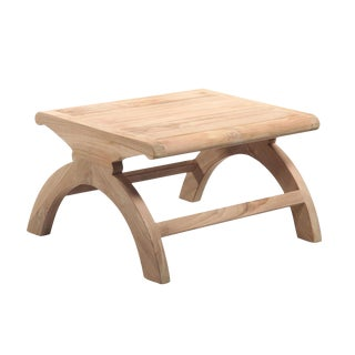 Tan Teak Wood Stool