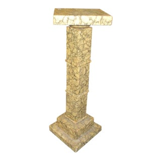 1910s Art Nouveau Marble Display Pedestal For Sale
