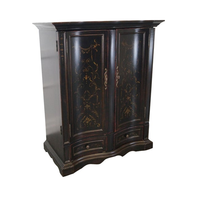 Hooker Furniture Seven Seas Black TV Armoire Cabinet For Sale