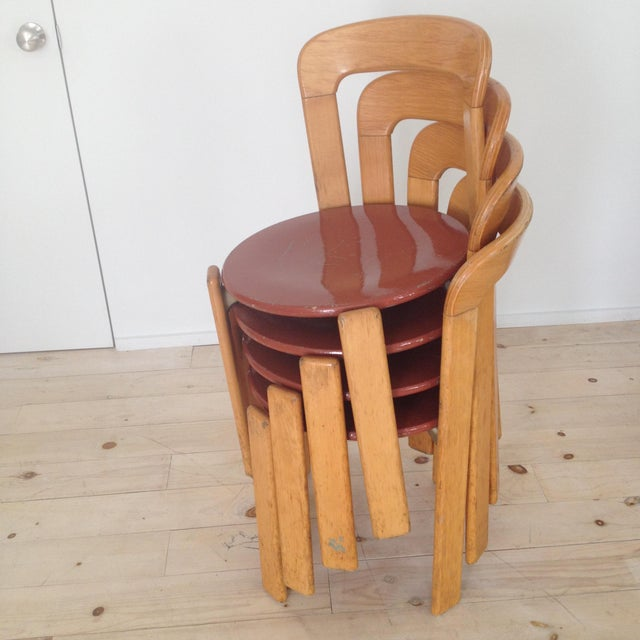 1960s Swiss Co. Dieteker Bruno Rey Stacking Chair For Sale - Image 5 of 7
