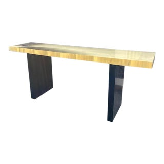 1960s Modern Soleil Brass Console Table For Sale