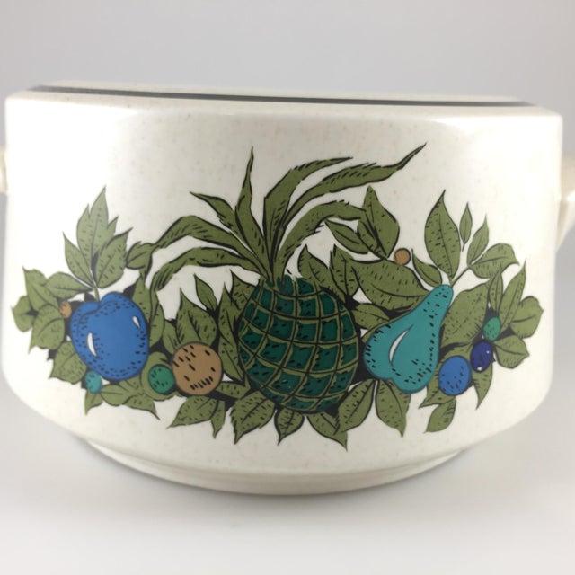 Mid-Century Modern Fall Bounty Stoneware Open Fondue Pot For Sale - Image 3 of 10