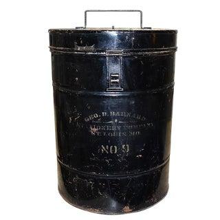 American Civil War Era Black Metal Ballot Box by Geo Barnard & Company 1800s For Sale
