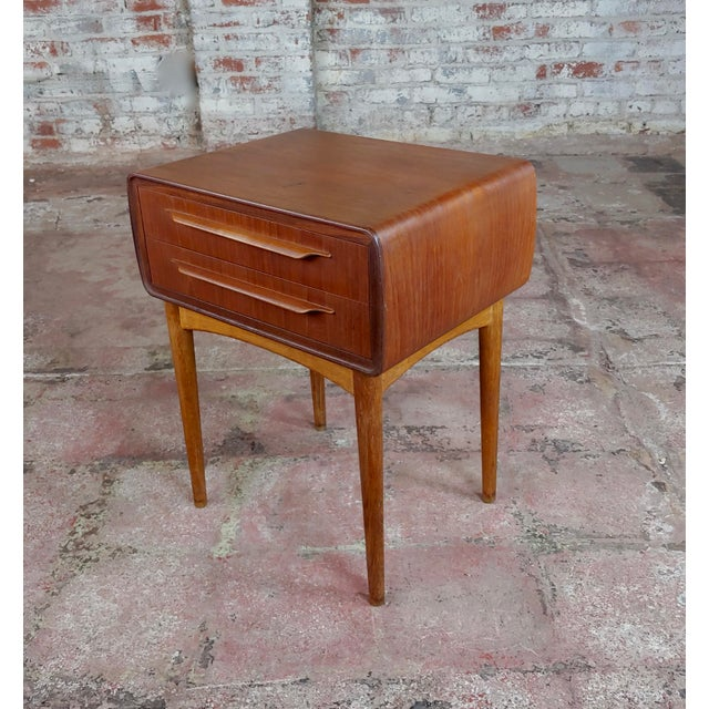 1960s Johannes Andersen-Two Drawer Teak Bedside Tables-Mid Century Danish-A Pair For Sale - Image 5 of 10