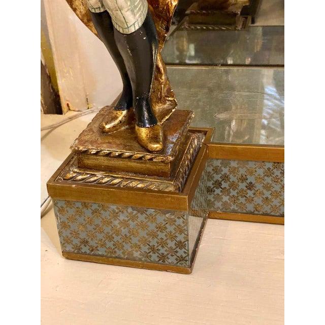 Figurative Hollywood Regency Jansen Figural & Eglomise Console Table. Serving / Sideboard For Sale - Image 3 of 12