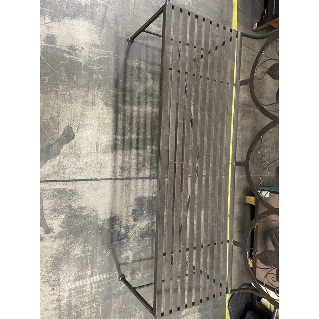 Late 20th Century Heavy Iron Bench by Maitland Smith For Sale - Image 10 of 11