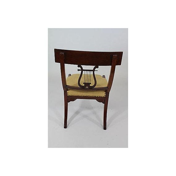 Antique Klismos Mahogany Chair For Sale - Image 5 of 6