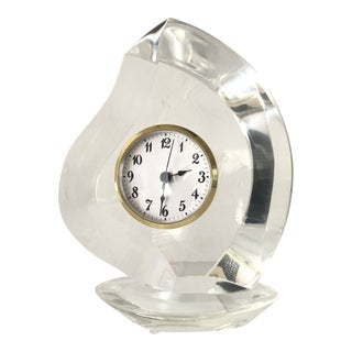 Vintage Lucite Van Teal Clock For Sale