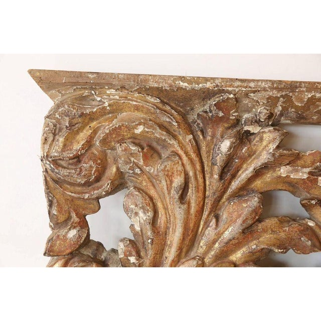 Early 18th Century Decorative 18th Century Carved and Gilded Architectural Fragment For Sale - Image 5 of 5