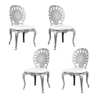 Vintage Set of 4 Grotto Aluminum Shell Chairs