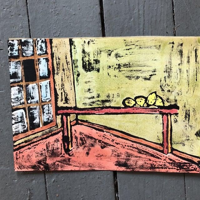 """Collection 11 Original Vintage Gouache Paintings """"Sur La Table"""" For Sale - Image 10 of 13"""