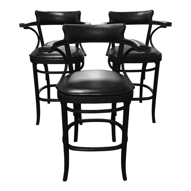Restoration Hardware Vienna Cafe Barstools - Set of 3 - Image 1 of 10