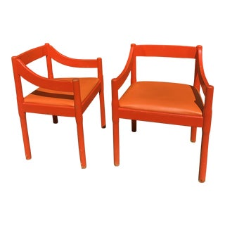 "1960s Vintage Vico Magistretti ""Carimate"" Chairs for Cassina- A Pair For Sale"