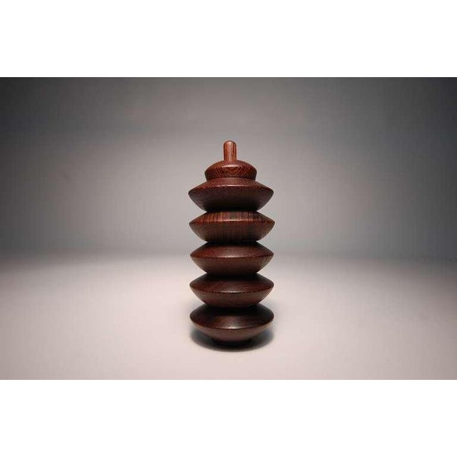 Wood Wenge Salt Chambers From Denmark For Sale - Image 7 of 7