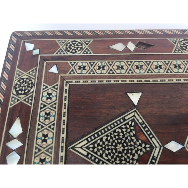 Large Islamic Syrian Wooden Micro Mosaic Box For Sale In Los Angeles - Image 6 of 13