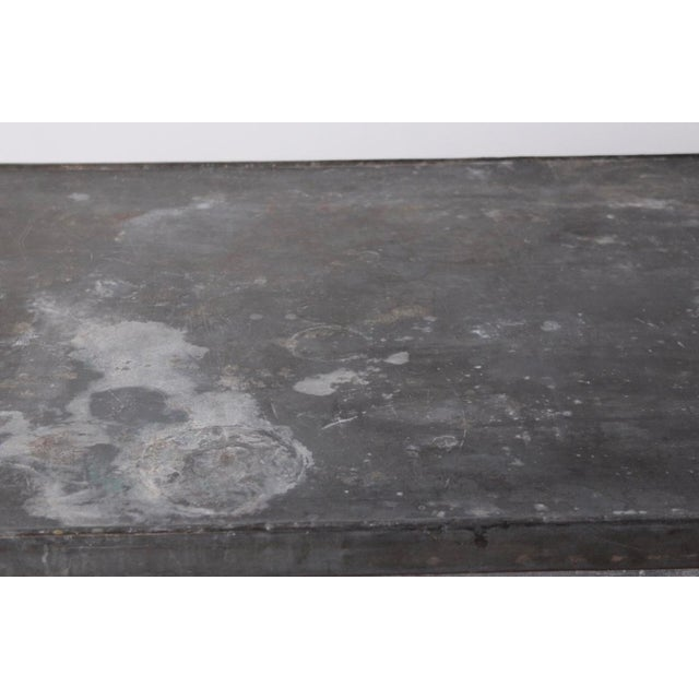 French Antique French Zinc Work Table For Sale - Image 3 of 7