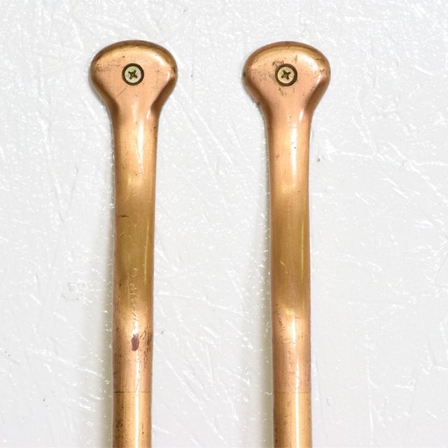 For your consideration, a Mid Century Modern Oversize Bronze Pull Door Handles. Made in the USA circa the 1960s....