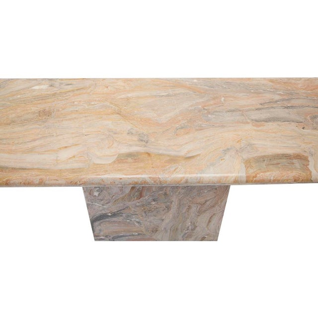 Modern Variegated Marble Console Table For Sale - Image 3 of 10
