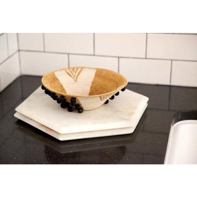 Boho Chic Envelope Medium Basket Ochre/cream/black For Sale - Image 3 of 7