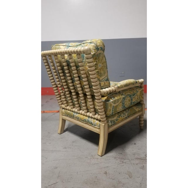 2010s Miles Talbott Bankwood Spindle Shiloh Spool Lounge Chair For Sale - Image 5 of 6