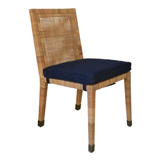 Contemporary Serena & Lily Balboa Side Chair With Cushion For Sale