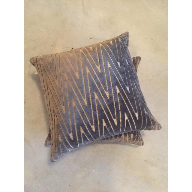Chevron Throw Pillows - A Pair - Image 2 of 6