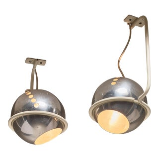 Pair of Model 232G Ceiling Lamps by Gino Sarfatti, Arteluce, Italy, 1960s For Sale