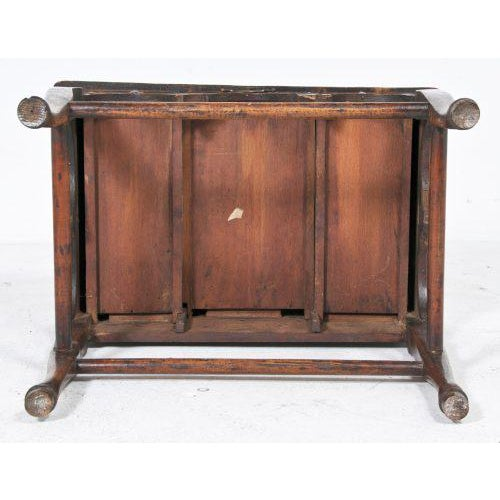 Early 20th Century Edwardian English Oak Dressing Table / Lowboy For Sale In San Francisco - Image 6 of 11