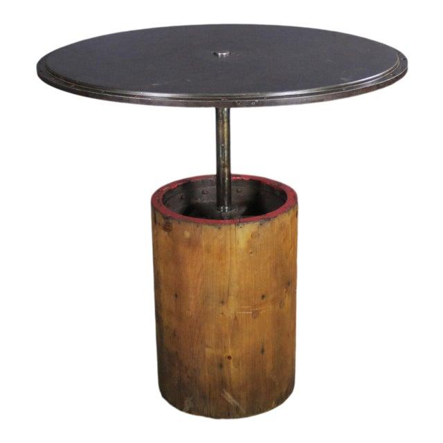 "1930 Industrial Sander Drum 40"" Pub Table For Sale"