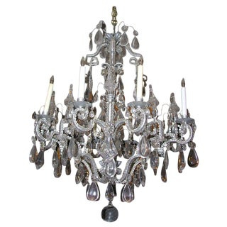 Neoclassic Eight-Lite Crystal Chandelier For Sale