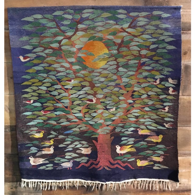 "Swedish ""Tree of Life"" Rug - 49"" x 53.5"" - Image 2 of 4"