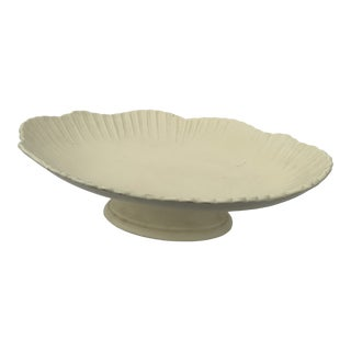 Ginori Style Antique Matte White Porcelain Ceramic Service Platter, Made in Italy For Sale